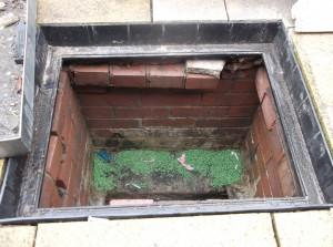 rat poison on sewer benching