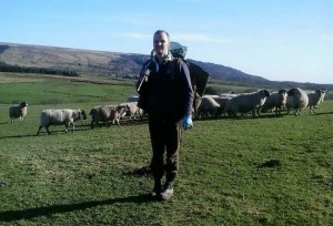 Tramping the fields after moles.